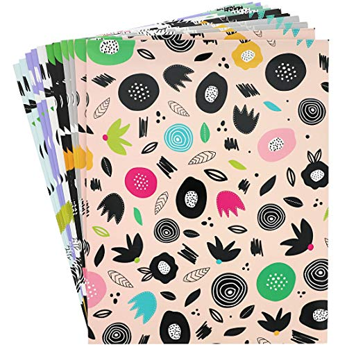 Blue Panda Abstract Floral Two Pocket Folders for Students (12 Pack)]()