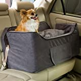 Snoozer Large Luxury Lookout Ii Pet Car Seat, Anthracite/Black Microsuede