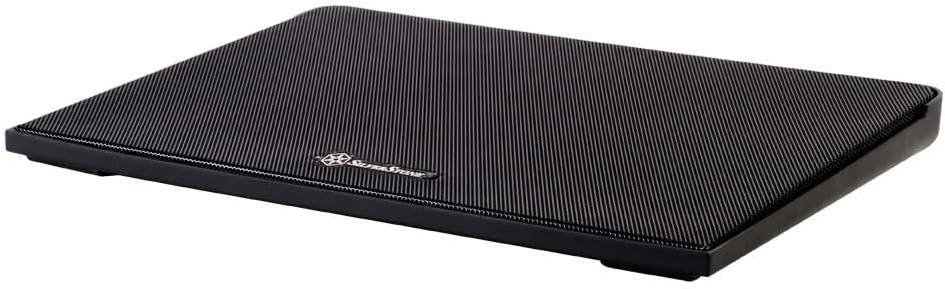 Black Silverstone NB02B Aluminum Notebook Docking Station w//Cooling Fan