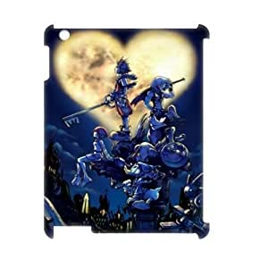 Qxhu Kingdom Hearts patterns Hard Plastic Back Protective case for Ipad2,3,4 3D case