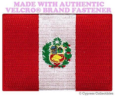 Bandera de Perú parche bordado parche de recuerdo peruana W/cierre de velcro marca Premium calidad detallada mejor para ...