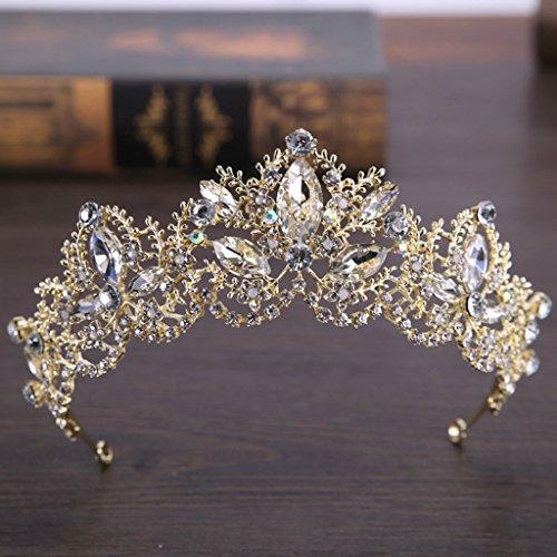 Allrise Baroque Princess Tiaras Wedding Crown, Bride Tiara Diadem Coronet Hair Accessory -