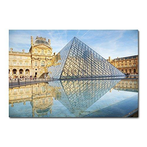 Placa Decorativa - Paris - Museu do Louvre - 2229plmk
