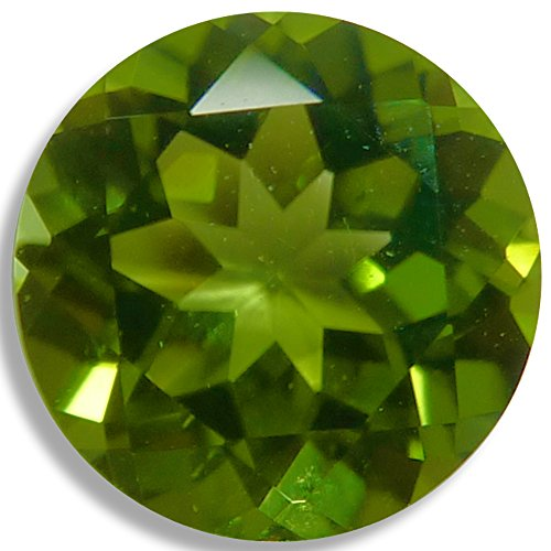 Natural Peridot Green Round Brilliant Loose Unset Gem (6mm) click for more (Green Peridot Gemstone)