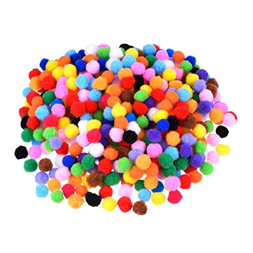 ROSENICE Assorted Pom Poms for DIY Creative Crafts Decorations 1cm 1200pcs Mixed Color (Making Flowers With Tissue Paper And Pipe Cleaner)