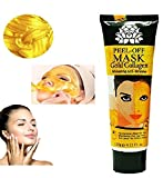 Cleansing Crystals Before Use - Gold Mask 24k Gold Collagen Peel Off Deep Cleansing Anti-Wrinkle Brightening Moisturizing Facial Nose Mask Pore-Clogging Dirt Remover Regulating Excess Oil Tightening Up Skin