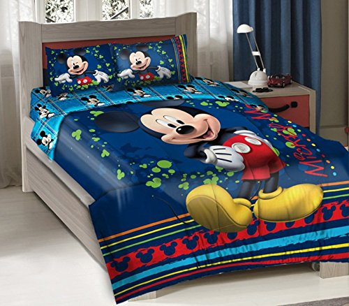 Disney Mickey Fun Licensed Twin Bedding Comforter Set