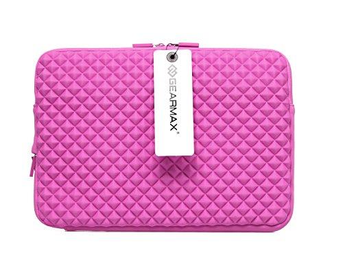 Laptop Case,Gearmax 13 Inch Macbook Pro Macbook Air iPad Pro Sleeve Case Laptop Bag -Rose