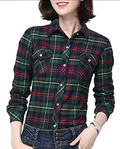 Warm amp;W Womens Fleece Button Winter 1 Plaid amp;S M Down Shirt q5SYUwq