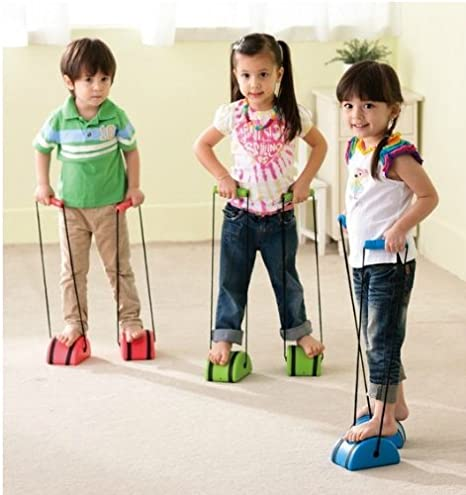 Itemship- Semicircle Stilts Children sensory integration training equipment outdoor indoor sports Lawn Games (Green)