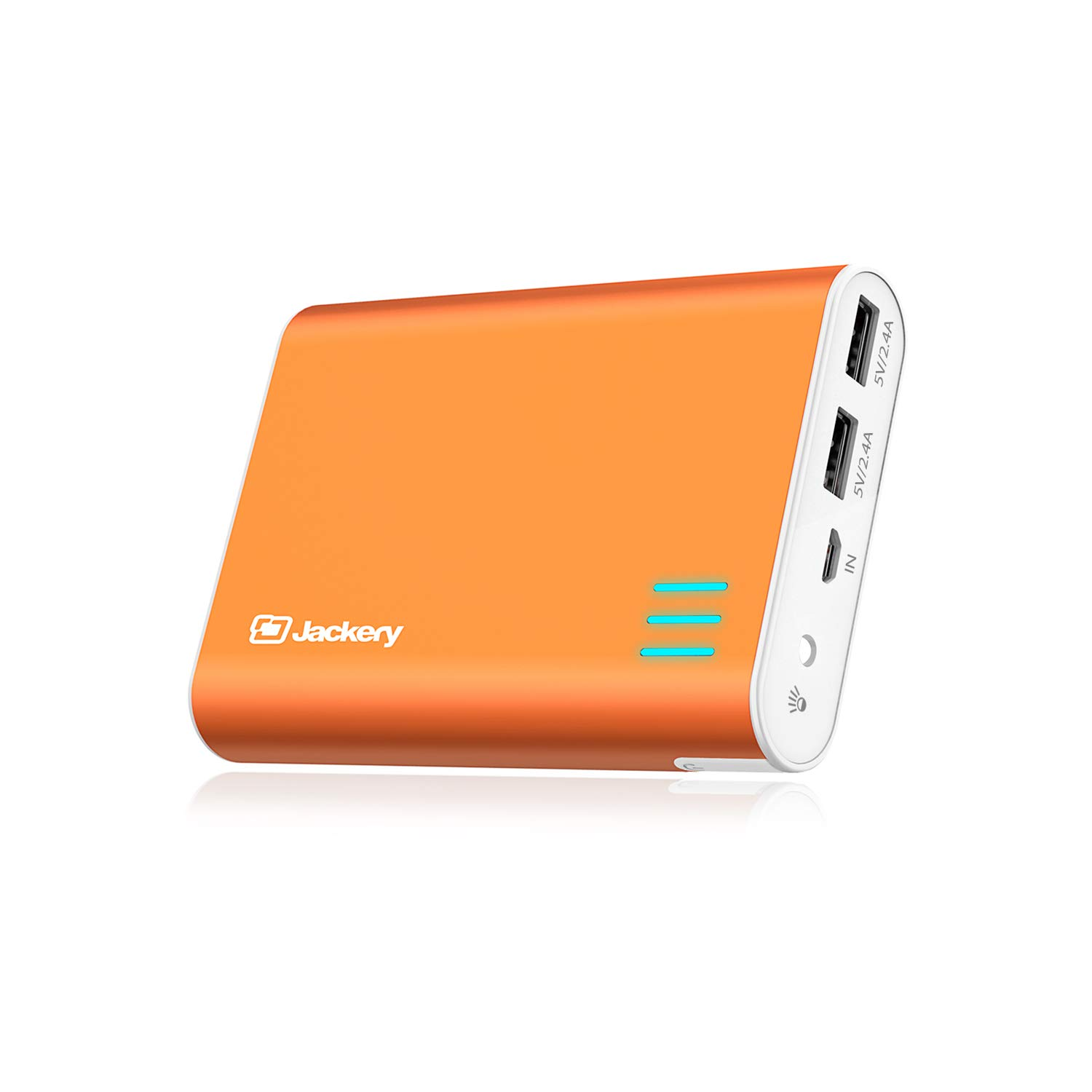 Jackery External Battery Charger Giant+ 12000mAh Power Outdoors Dual USB Portable Battery Charger/External Battery Pack/Phone Backup Power Bank with Emergency Flashlight for iPhone, Samsung-Orange by Jackery