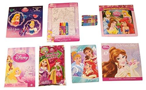 [Disney Princess Activity Gift Set ~ Wish Upon a Star (Holiday Play Pack, Christmas Coloring and Activity Pad, Tattoos, Comic, Paperbacks, Poster Set, Crayons; 8 Items, 1 Bundle)] (Disney Princess And The Frog Tattoos)