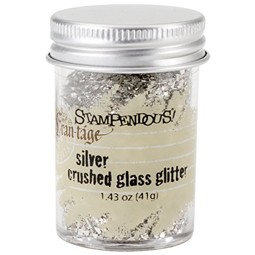Stampendous Glass Glitter 1.43 Ounces-Silver (Glass Glitter Crushed)