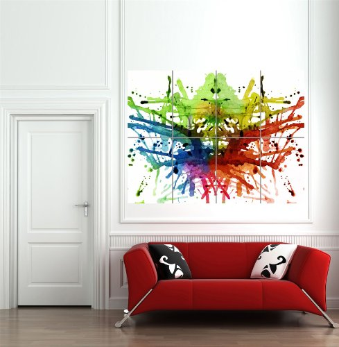 Inkblot Multicolored abstract Modern wall art