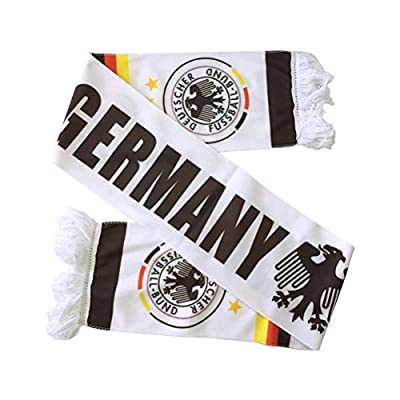 Cos2be Double Jacquard Soccer Knit Scarf Lightweight and Breathable-Perfect Fan's Gifts for Sport Events
