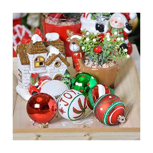 Valery Madelyn Palle di Natale 30 Pezzi 6cm Palline di Natale, Collezione Classica Rosso Verde e Bianco Infrangibile Ornamenti di Palla di Natale Decorazione per la Decorazione Dell'Albero di Natale 5 spesavip