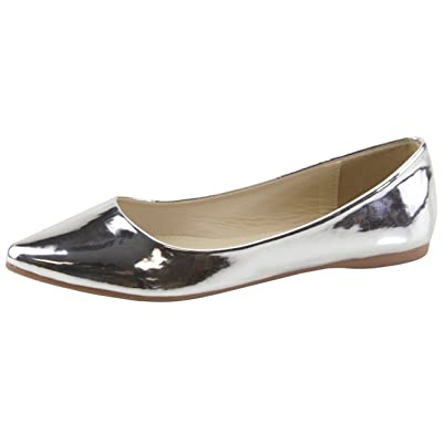 Amazon.com | Cambridge Select Women's Classic Slip-On Closed Pointed Toe Ballet Flat | Shoes
