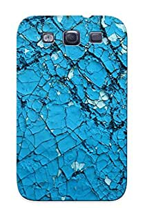 New Arrival Cover Case With Nice Design For Galaxy S3- Cracked Blue Wall