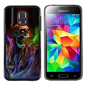Paccase / SLIM PC / Aliminium Casa Carcasa Funda Case Cover para - Death Metal Rock Heavy Dark - Samsung Galaxy S5 Mini, SM-G800, NOT S5 REGULAR!