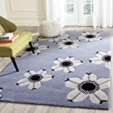Safavieh Allure Collection ALR123A Handmade Blue Premium Wool Area Rug (5′ x 8′) For Sale