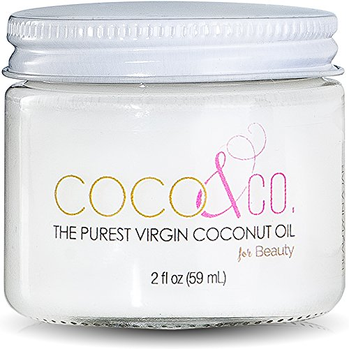 2 Oz Coconut Oil Moisturizer - Coconut Oil for Hair & Skin By COCO&CO. Beauty Grade 100% RAW (2oz) Mini Jar