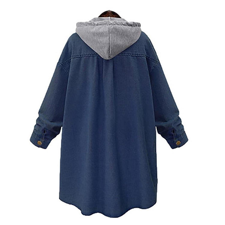 Amazon.com: Wondere Women Winter Warm Patchwork Thick Loose Cashmere Chaqueta Long Jacket CoatPlus Size Oversize Jeans Overcoat: Clothing