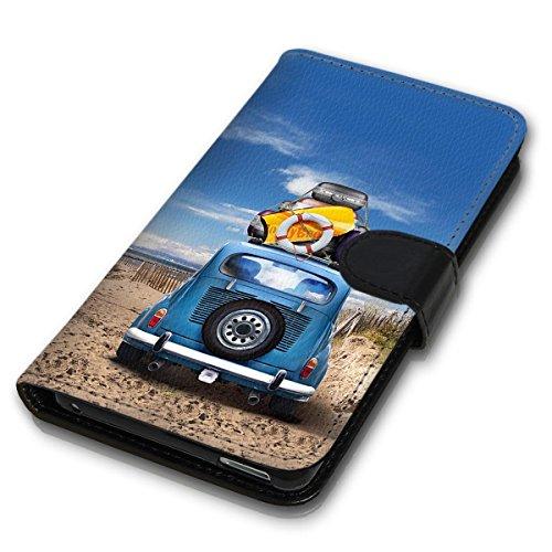 Wallet Book Style Flip Handy Tasche Case Schutz Hülle Schale Motiv Etui personalisiert für Apple iPhone 6 / 6S - Design Flip MVDD