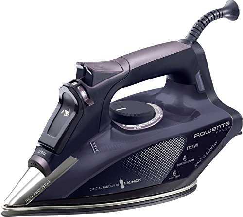 Rowenta DW5197 Partner of Fashion Focus Steam 1725-Watt Micro Steam Iron with Stainless Steel Soleplate, 400-Hole, Purple