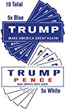 10 Pack President Donald Trump Mike Pence Make America Great Again Bumper Stickers (Mix) offers