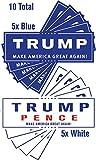 10 Pack President Donald Trump Mike Pence Make America Great Again Bumper ...