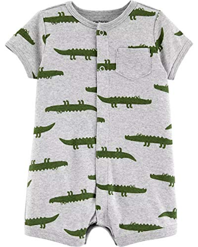 Carter's Baby Boys Snap-Up Romper (24 Months, Heather/Alligator)