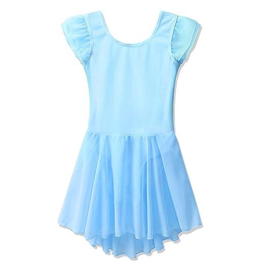 c5846c798 Amazon.com  BAOHULU Girl s Ballet Dance Leotards Flutter Sleeve ...
