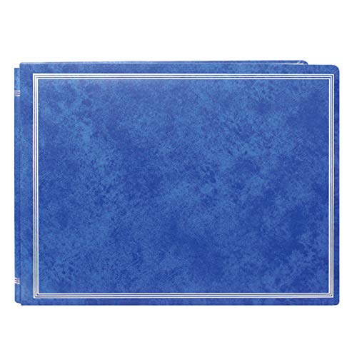 Pioneer Photo Albums Pioneer Postbound Deluxe Boxed Royal Blue Leatherette Magnetic Album with 2 Bonus Refill Packs