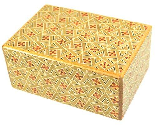 Kirichigai Pattern 4 Sun 7 Step Japanese Puzzle Box by 4 Sun Puzzle Boxes