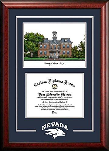 University of Nevada Reno Alumni Mahogany Diploma - Frame Shop Reno