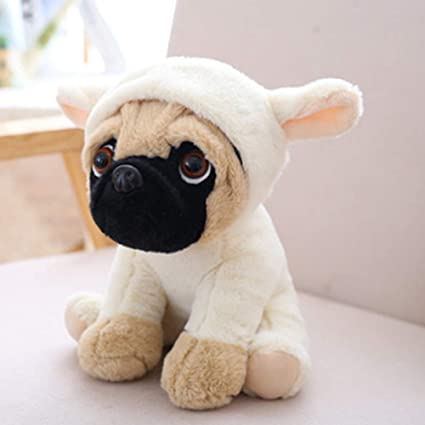 EDTara 20CM Stuffed Simulation Dogs Plush Sharpei Pug Lovely Puppy Pet Toy Plush Animal Toy Kid Children Birthday Christmas Gift