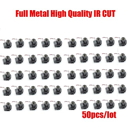 HITSAN 50pcs lotslfull metal m12 ir cut filter icr with m12 lens mount holder dual filters switch vivid images for hd cameras