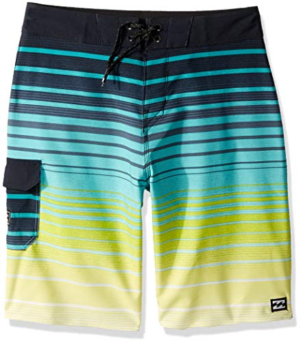 349b8300132922 Billabong Boys' All Day Stripe Pro Boardshorts Neon Yellow 26 - Buy ...