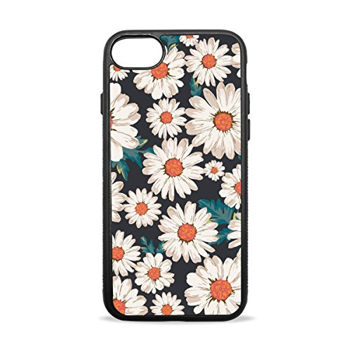 Dragon Sword iPhone 8 Case, Blossom Flower Daisy Print Flexible Soft TPU Anti-Scratch Shockproof Slim Fit Case Cover for Apple iPhone 8 4.7 ()