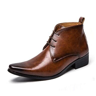 Zapatos De Cuero Cabelludo En Punta Botas Chelsea Zapatos ...