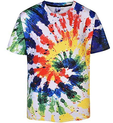 Sykooria Men's Art T-Shirt Summer Unisex Vintage Short Sleeve 3D Printed Tshirt Tees Top Plus ()