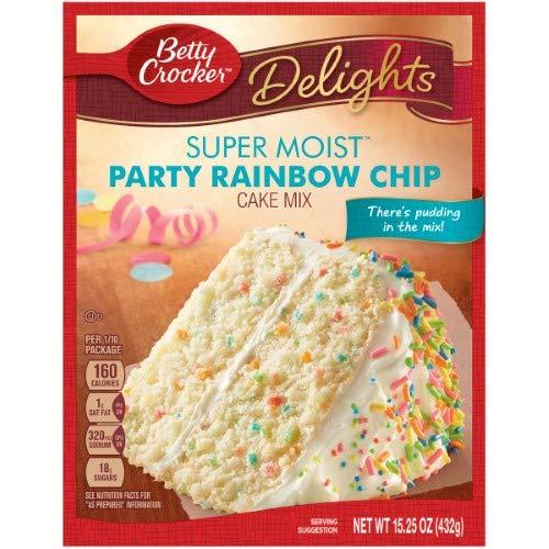 - Betty Crocker Rainbow Chip Cake Mix (Pack of 4)