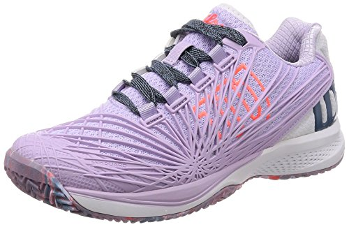 Wilson Kaos 2.0 Women's Tennis Shoes - Lilac/White/Fiery Coral Size U.S.: 7.5