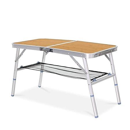 Mesa plegable Escritorio Tabla de aluminio plegable a la mitad del ...