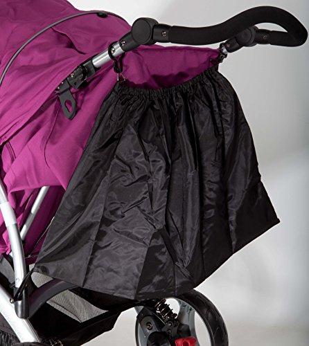Simo Shopping bag Einkaufstasche Shoppingtasche Kinderwagen twins Baby Kleinkind Kinder black Zwillinge schwarz