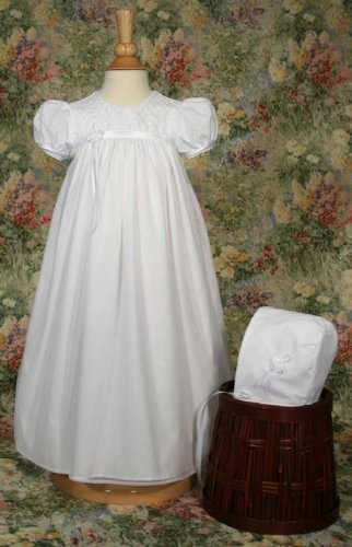 Tricot Gown with Embroidered Bodice