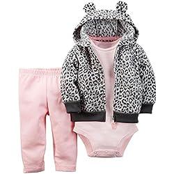 Carter's Baby Girls' 3 Piece Cardigan Set - Animal Print - 6 Months