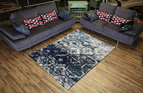 (Studio Collection Vintage Trellis Lattice Design Contemporary Modern Area Rug Rugs 3 Different Color Options (Trellis Navy Blue, 5 x 7))
