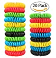 Natural Mosquito Repellent Bracelets - GREAT OUTDOORS- Insect Bug Protection up to 300 Hours Bands, Deet-Free Wristband, Pest Control Bands for Kids & Adults (20)