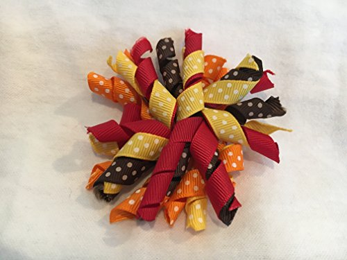 Korker Hair Bow, Fall Hair Bow, Harvest Hair Bow]()